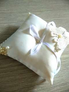 Handmade craft wedding ring pillow