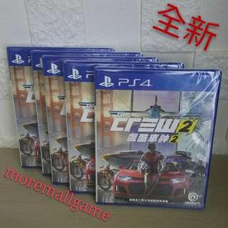 全新PS4 飆酷車神2 The Crew 2 行貨中英文版