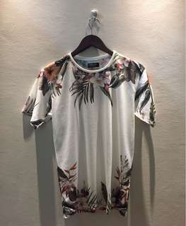 Zara Floral Men T-Shirt - M