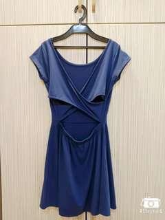 Backless Dress 蓝色连身裙 /露背连身裙