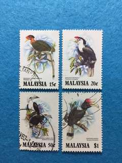 1983 Hornbills of Malaysia 4 Values Used Set