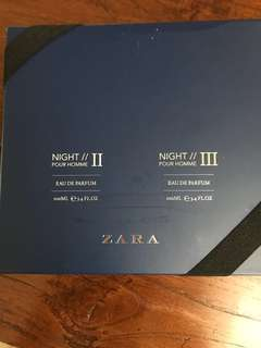 Zara perfume pour homme night II & III (For Men)