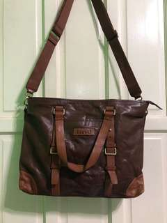 two way bag leather