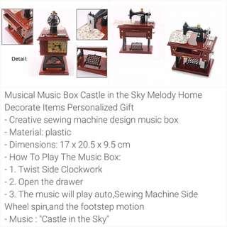 Preorder- Vintage Mini Sewing Machine Musical Box