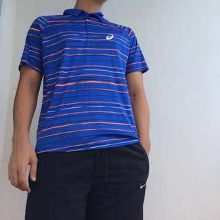 Asics motion-dry polo shirt (tennis/badminton/casual sporty)