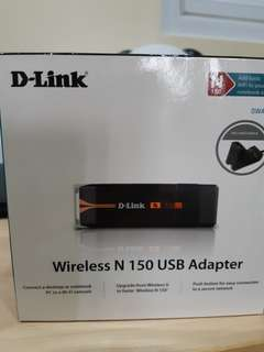 Wireless DLINK N150 USB Adapter