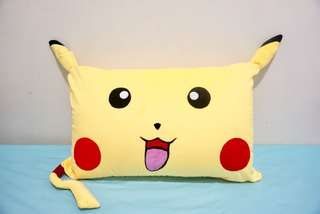 🚚 Pikachu Pokemon velvet cotton cushion cover / pillow case, cute, soft, stuffed character cushion, puffy, comfy bedding gift, baby shower