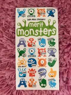 384 Mini Stickers <Merit Monsters>