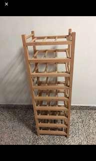 9 Tier Wooden Wine Rack