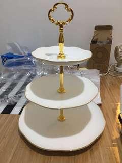 歐式金邊 三層蛋糕架 Cake Stand