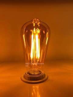 Amber vintage bulb