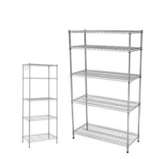5 layer stainless steel kitchen/bathroom rack