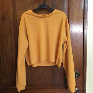 Cropped Mustard Sweatshirt