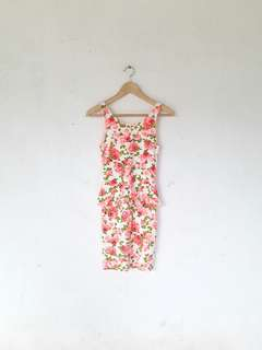 H&M Floral Peplum Dress