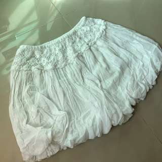 White shorts skirts