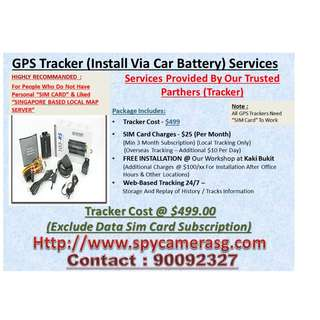 Car Tracker Fixed To Car Battery