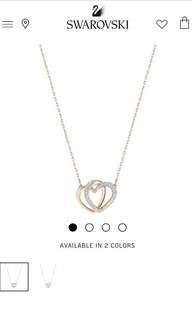 Authentic Swarovski Dear Necklace Rose Gold