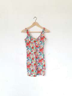 Bershka Flowery Dress