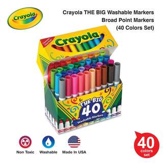 Crayola THE BIG Washable Markers, Broad Point 40/Set