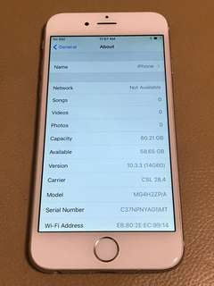 iPhone 6 64G Sliver 95%New