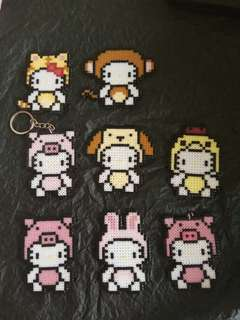 Hello Kitty Beads Keychain