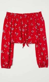 H&M off-the-shoulder top - floral
