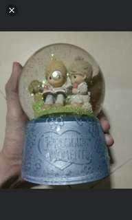 Precious moment unchained melody snow globe
