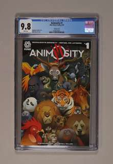 Animosity 1 cgc 9.8 first price 1:10 optioned for movie!!