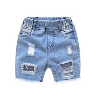🚚 『MIX B.』潮流刷破牛仔短褲