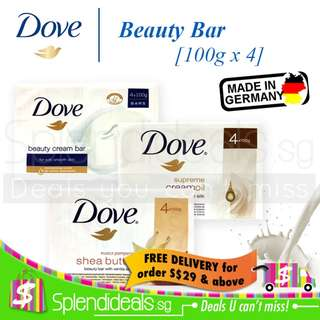 Dove Soap Bar - Purely Pampering Shea Butter | Beauty Nourishing | Go Fresh - 100g x 4s