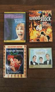 Classic Film Bundle (Psycho, Across the Universe, Woodstock, Sabrina)
