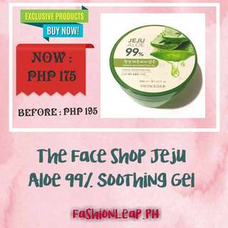 """The Face Shop Jeju Aloe 99% Soothing Gel"" 300ml/10.14 fl.oz"