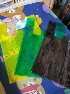 彩色誘明背心膠袋
