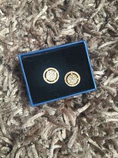 Earrings with real diamonds 14k gold