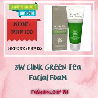 """3W Clinic Green Tea Facial Foam"""