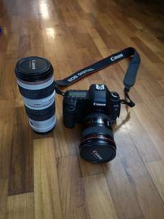 5D2, and lens 17-40F4, 70-200F4