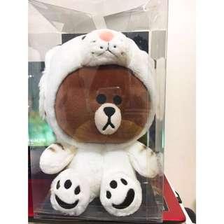 🚚 熊大 動物裝 line friends 白虎 25公分