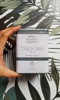 John Masters Organics Black tea 20 tea bags energising orange and vanilla
