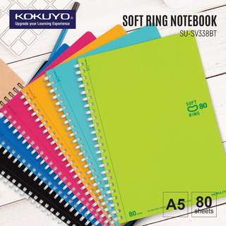 KOKUYO SU-SV338BT SOFT RING NOTEBOOK A5 (80 SHEETS)6MM RULED WITH DOTTED 29LINES