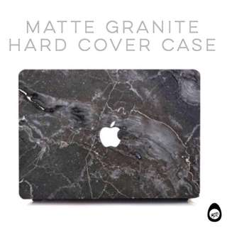 🚚 *Free gifts with every purchase* Matte Marble / Granite case for macbooks