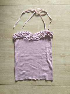 Rose knit halter top