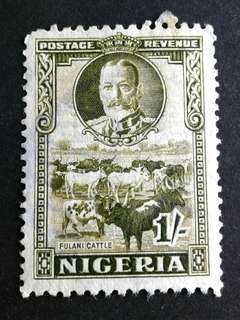 1936 Nigeria 1/- used stamps#1