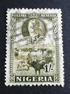 1936 Nigeria 1/- used stamps#2