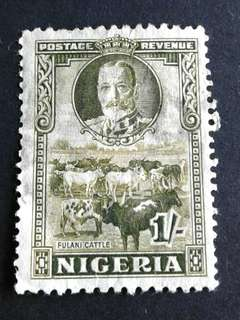 1936 Nigeria 1/- used stamps#3