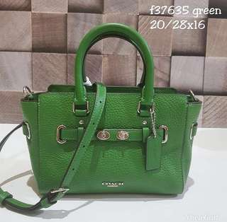 Coach Mini Blake Green size 20/26x15 (Same Size With Coach Swagger 21)