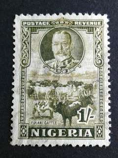 1936 Nigeria 1/- used stamps#4