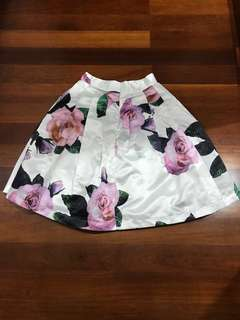 [Free Size]_Floral Skirt