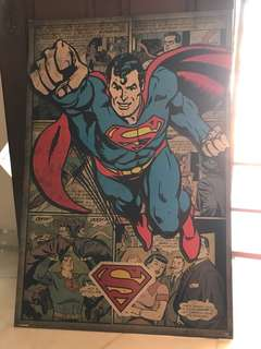 Superman 2' x 3' Poster (without frames)
