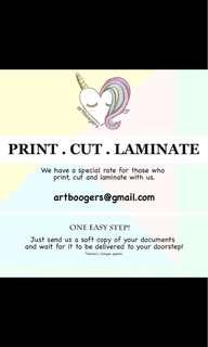 Print. Cut. Laminate