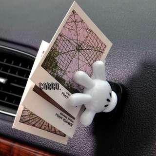 全新現貨 米奇 米奇老鼠 Mickey Mouse手套 汽車 車用 卡片 入油 單據 八達通 彈弓夾